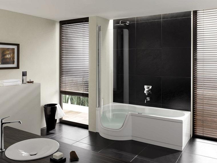 vasca doccia combinata-idea-bianco-nero