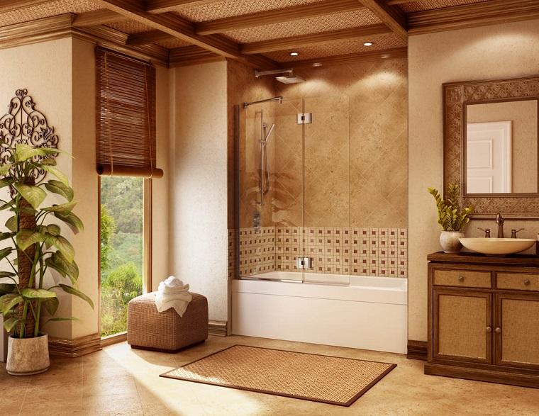 vasca doccia combinata-proposta-toni-marrone