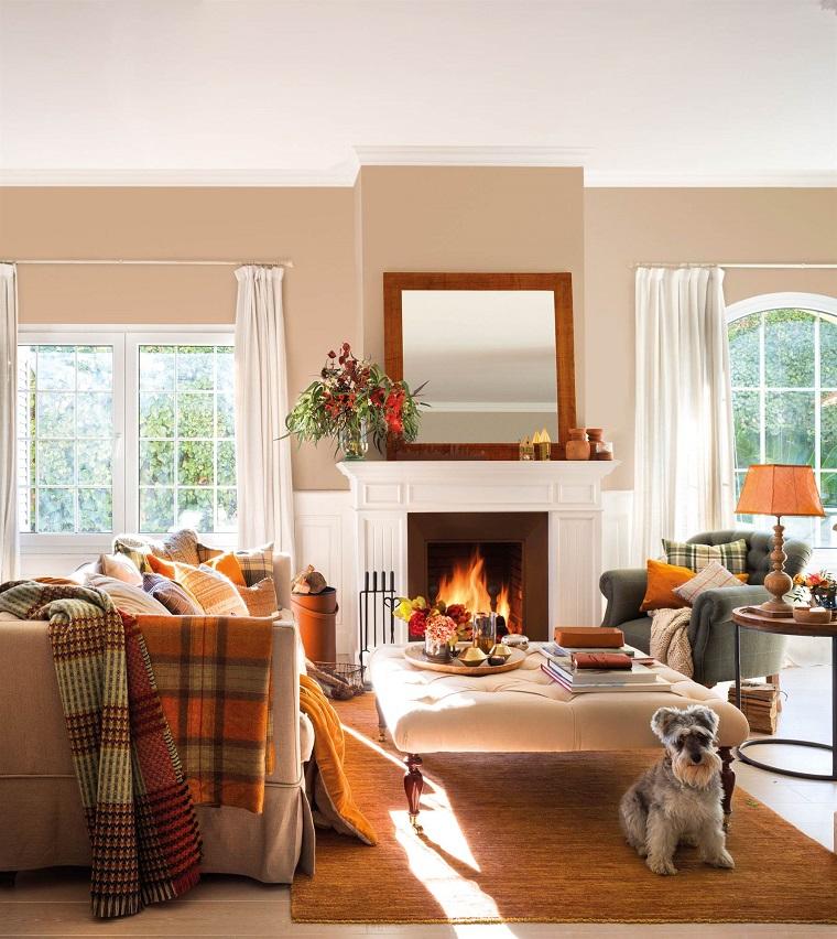 60 idee per un camino rustico comfort e accoglienza allo for Arredamento moderno bianco