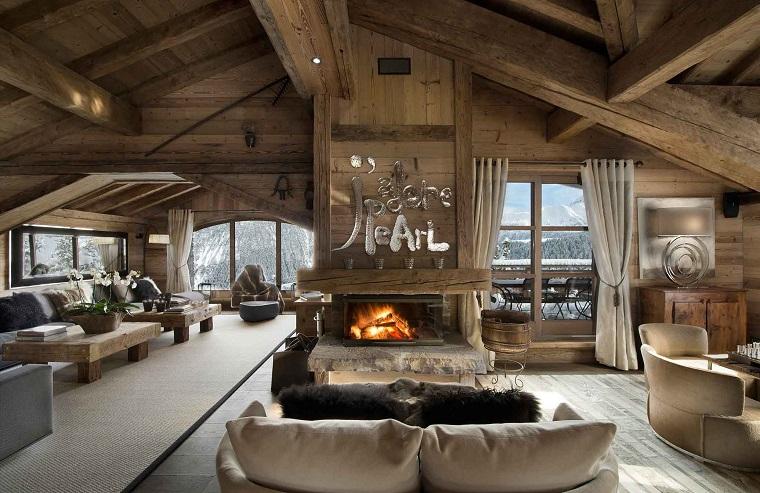 camini-rustici-chalet-montagna-arredamento-mobili-salotto-legno