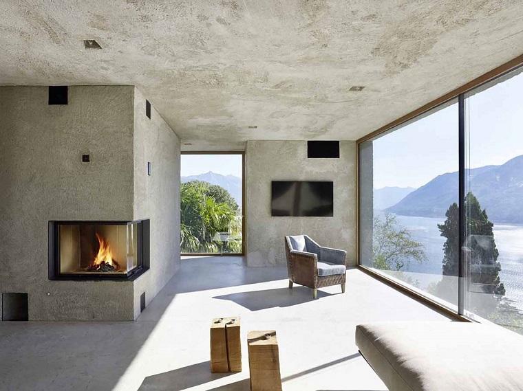 Salotto Moderno Con Camino Ad Angolo : ▷ idee per un camino rustico comfort e accoglienza allo stato