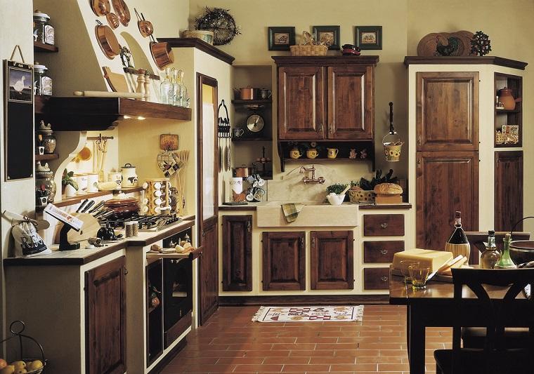 cucina in muratura-ante-legno