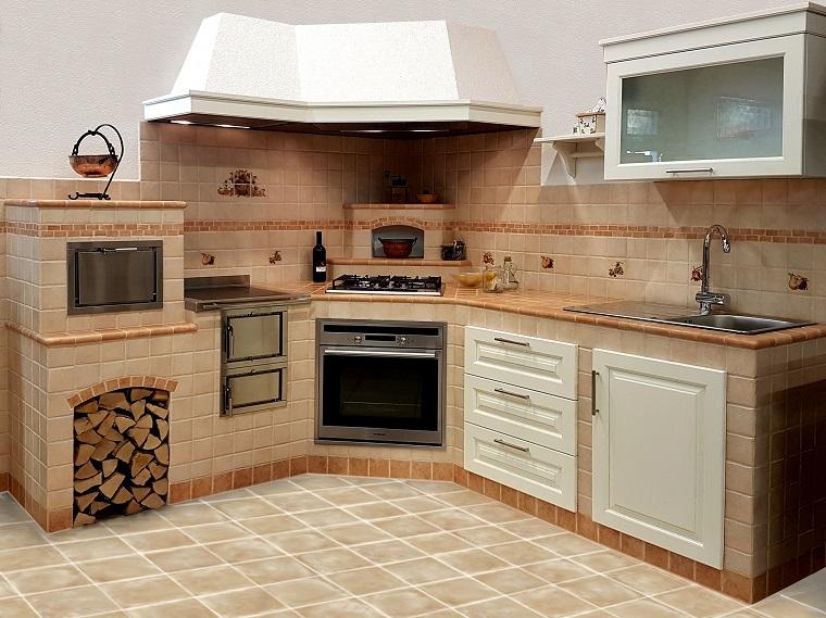 Cucina in muratura solidit tradizione e atmosfere accoglienti - Cucinini in muratura ...