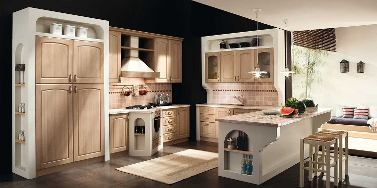 cucina in muratura-toni-chiari