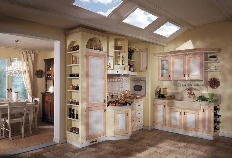 Cucina in muratura solidit tradizione e atmosfere - Bagno finta muratura ...