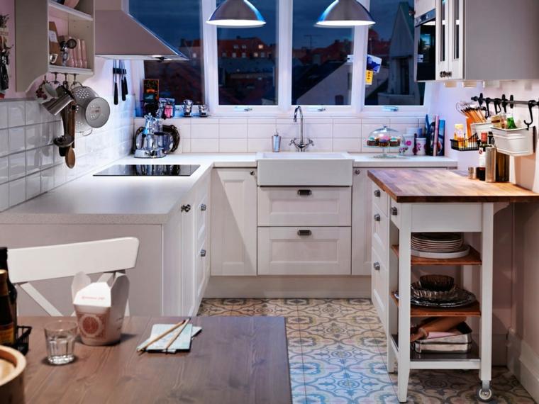 cucina-piccola-stile-country-organizzare-spazio-idee