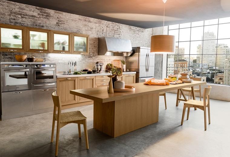 cucine-in-muratura-tavolo-centro
