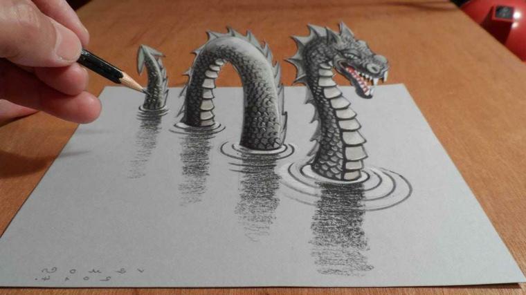 90 disegni a matita fra i pi belli e sorprendenti con for Disegni 3d facili per bambini