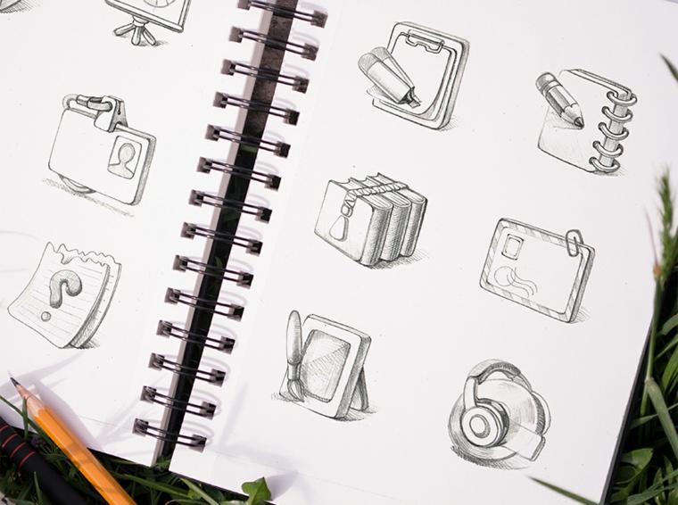 disegni-a-matita-facili-blocco-note-due-pagine-disegni-oggetti-uso-quotidiano-dimensioni-contenute
