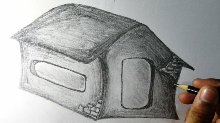 disegni-a-matita-semplici-fase-finale-realizzazione-casetta-alcuni-dettagli-mattoni-vista-grandi-finestre