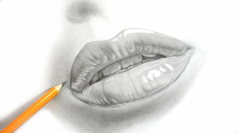 disegni-a-matita-ultimi-ritocchi-primo-piano-bocca-donna-socchiusa-intravedono-denti-narice