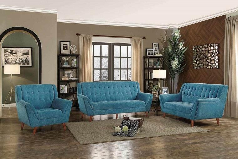 divani-blu-tessuto-stile-vintage
