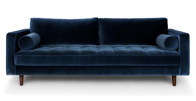 divani-blu-velluto-linee-squadrate