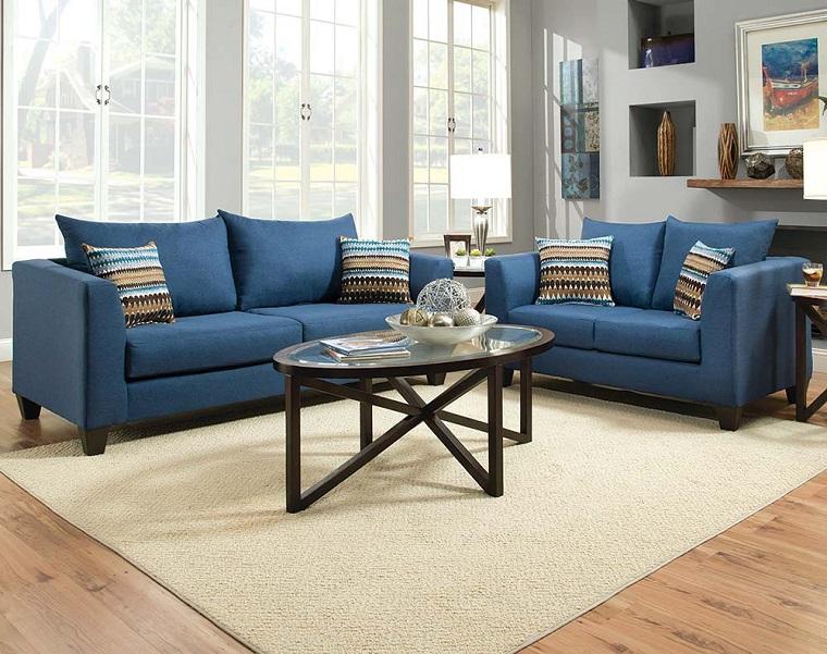 divano blu-due-posti-l