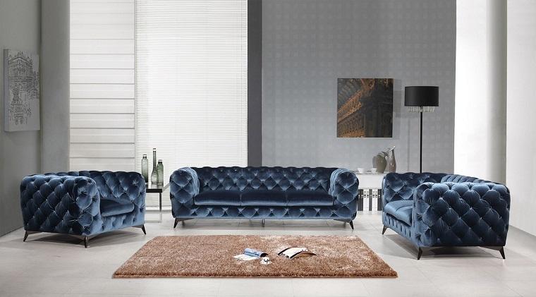divano blu-opzione-elegante-velluto