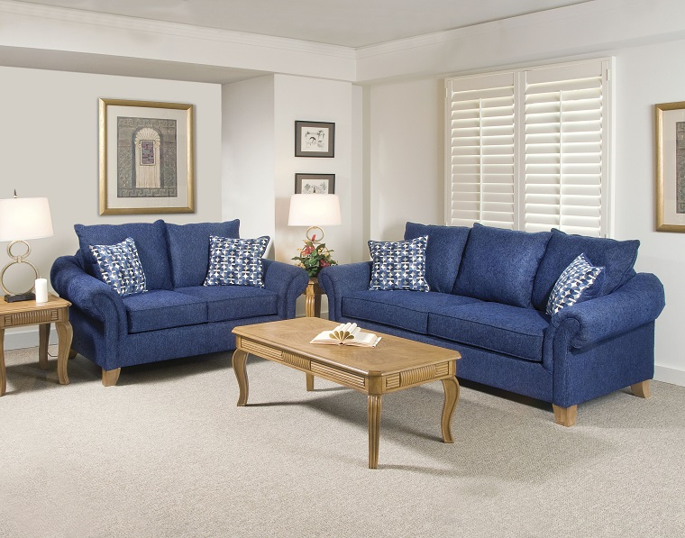 divano-blu-stile-classico