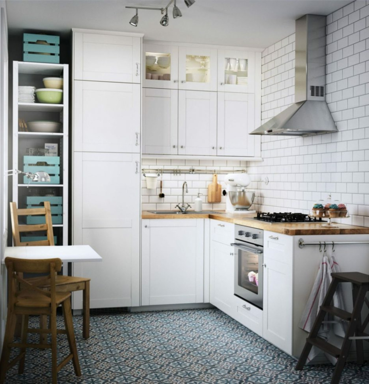 ikea-cucine-compatibili-spazio-ridotto-cappa-aspirante-acciaio-inox-top-legno