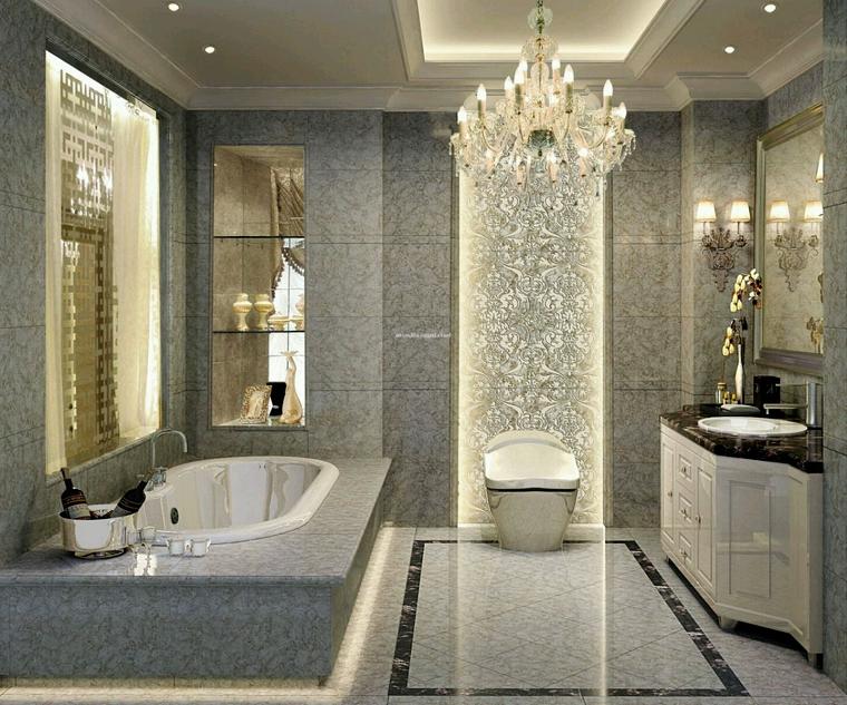 lampadari-bagno-contesto-lussuoso