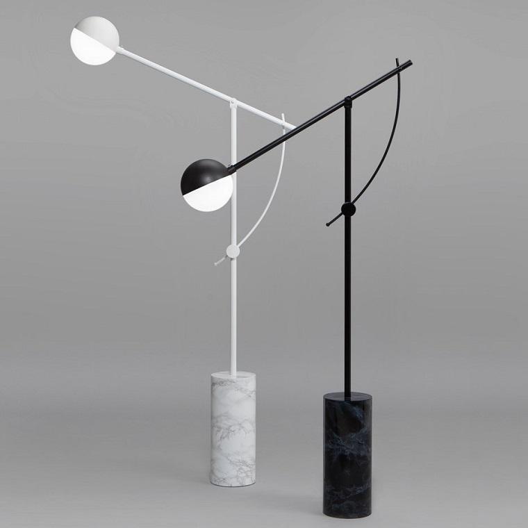 lampade-design-piantana-bianche-nere