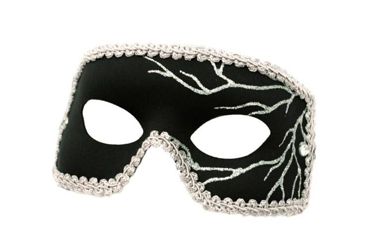 maschera-di-carnevale-mezzo-volto-nera-bordo-argentp-decorazioni-forma-ramo-parte-laterale