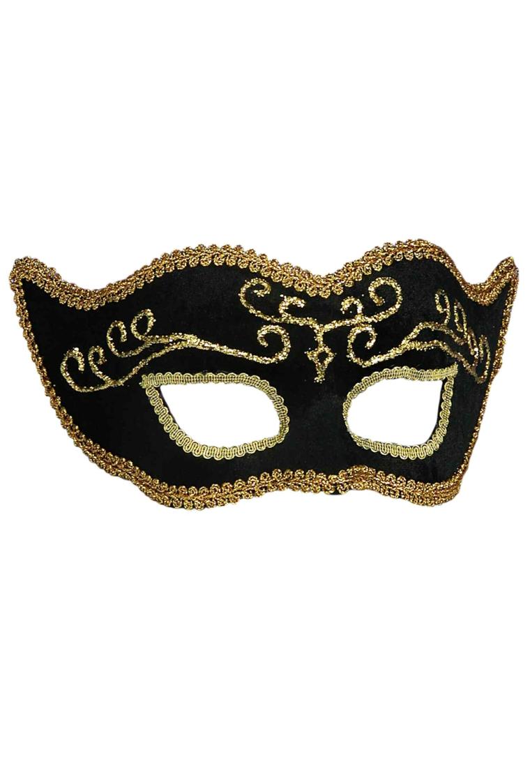 maschera-di-carnevale-proposta-semplice-elegante-realizzata-velluto-nero-contorni-decorazioni-dorate