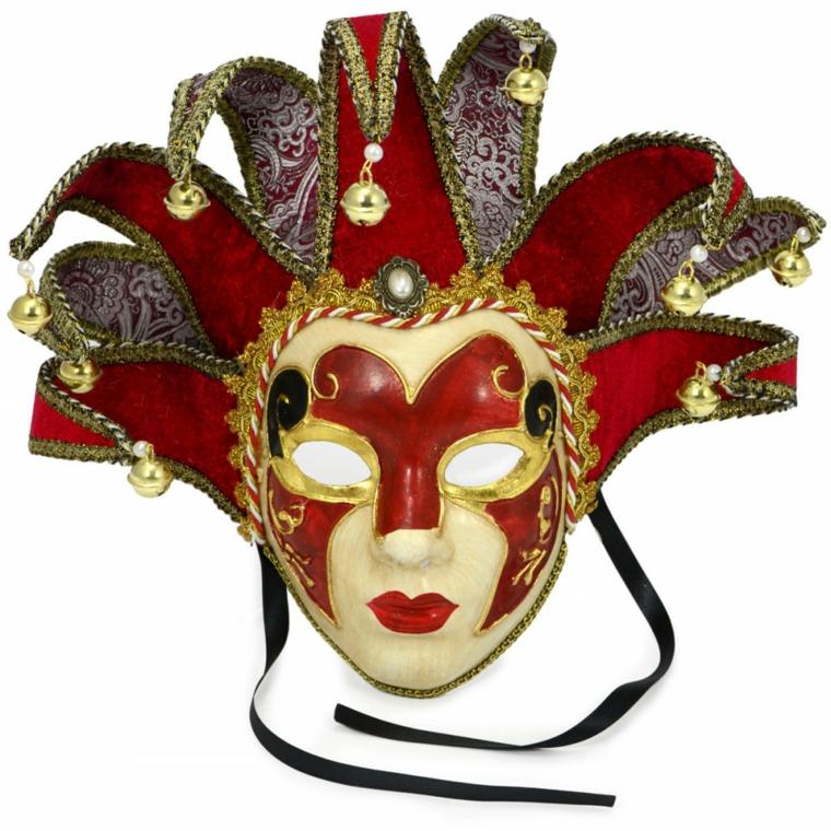 maschera-veneziana-soluzione-classica-volto-femminile-decorazioni-rosso-nero-color-oro-campanellini-estremita-copricapo
