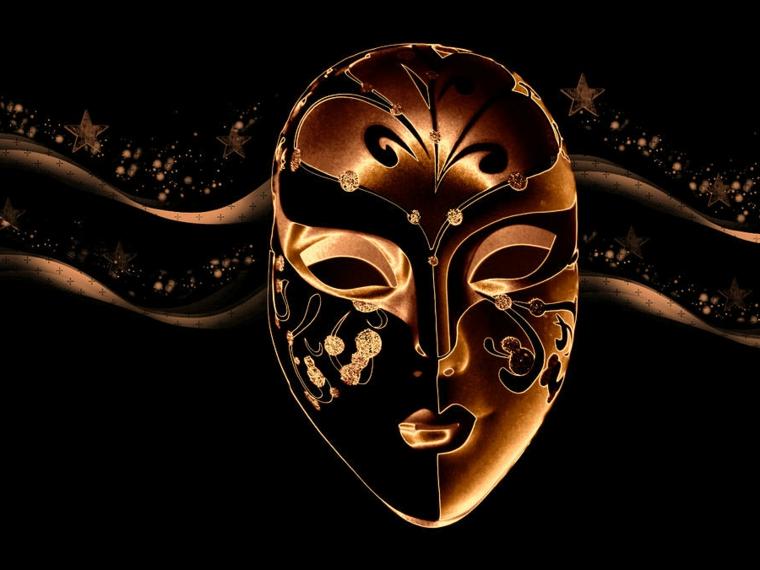 maschere-di-carnevale-idea-tutto-viso-caratteristiche-femminili-toni-oro-dettagli-neri