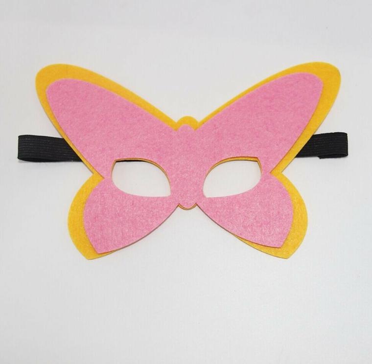 maschere-di-carnevale-per-bambini-proposta-semplice-realizzare-forma-farfalla-rosa-contorno-giallo