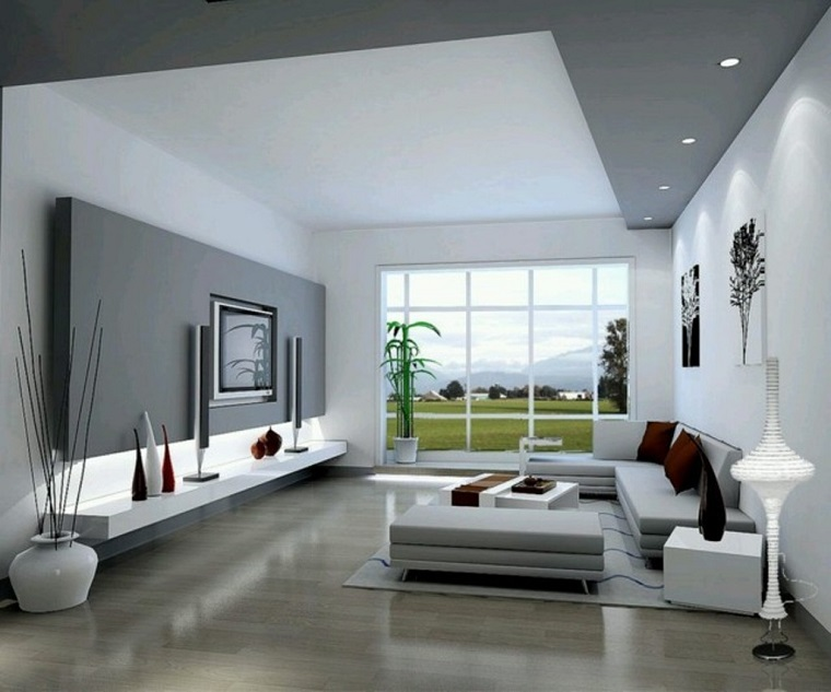 parete-grigia-due-tonalita-salotto