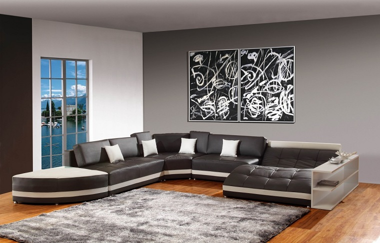 pareti-grigie-salotto-grande-divano