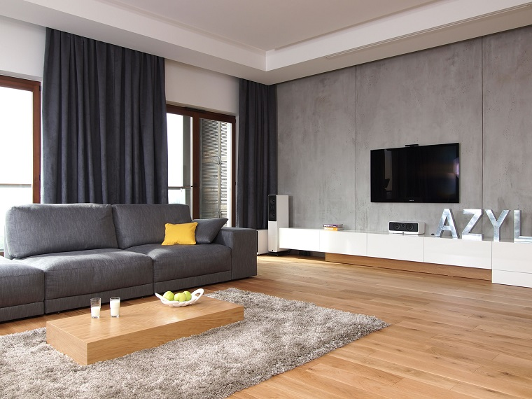Pareti grigie: una cornice elegante e moderna per living e camera ...