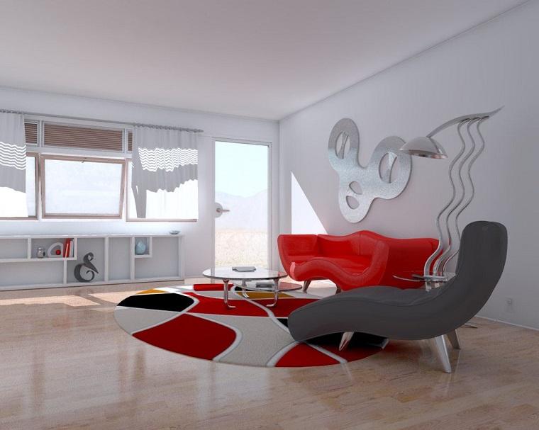 pareti-grigio-perla-elementi-rossi