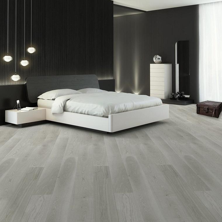 Pavimento grigio tutte le sfumature dell 39 eleganza in chiave moderna - Pavimento camera da letto ...