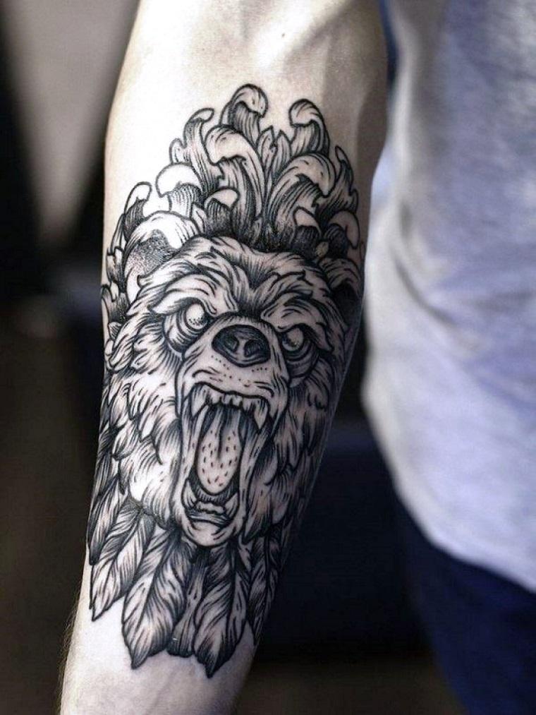 tatuaggi-avambraccio-faccia-lupo