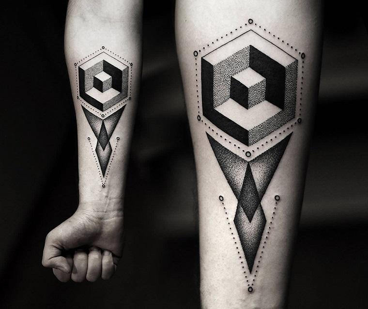 tatuaggi avambraccio-idea-disegno-geometrico