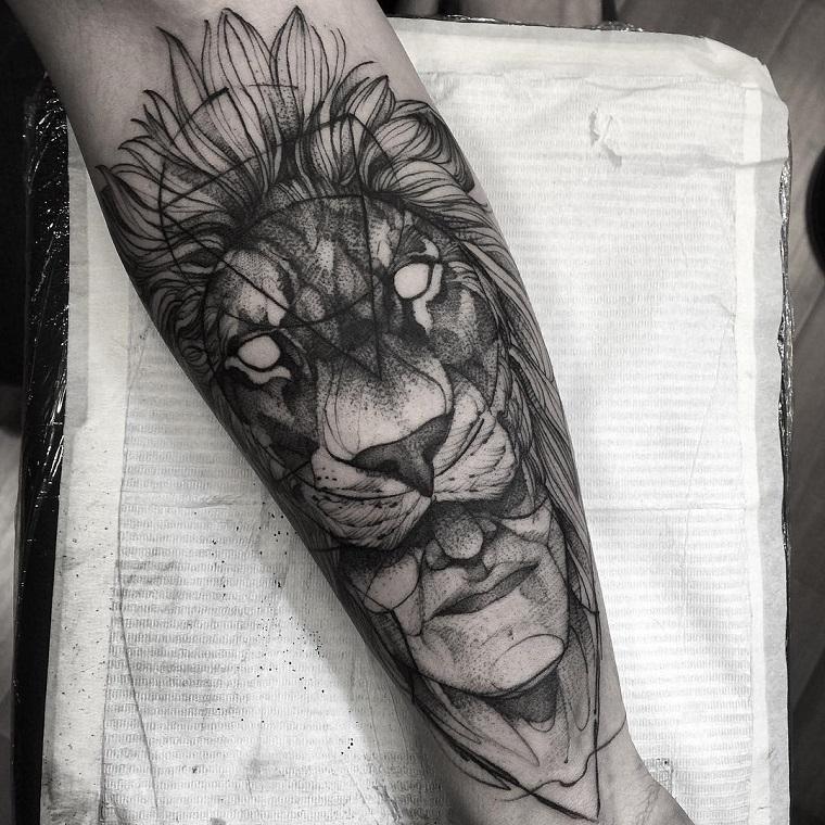 tatuaggi-avambraccio-idea-testa-leone
