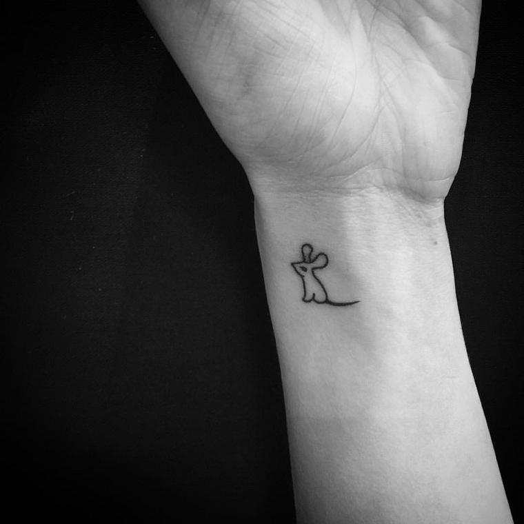 tatuaggi polso-coniglietto-piccolo
