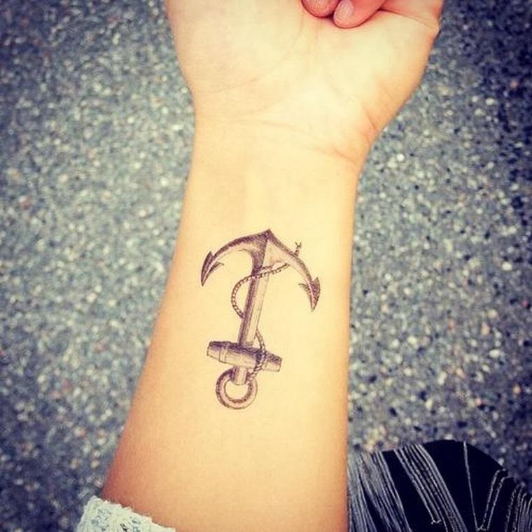 tatuaggi polso-idea-ancora