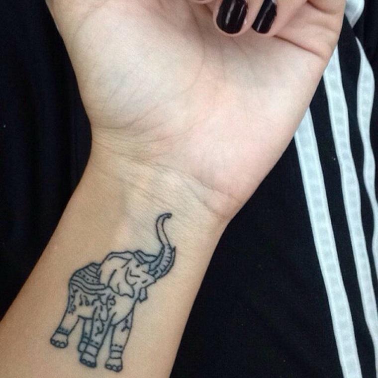 tatuaggi polso-idea-elefantino