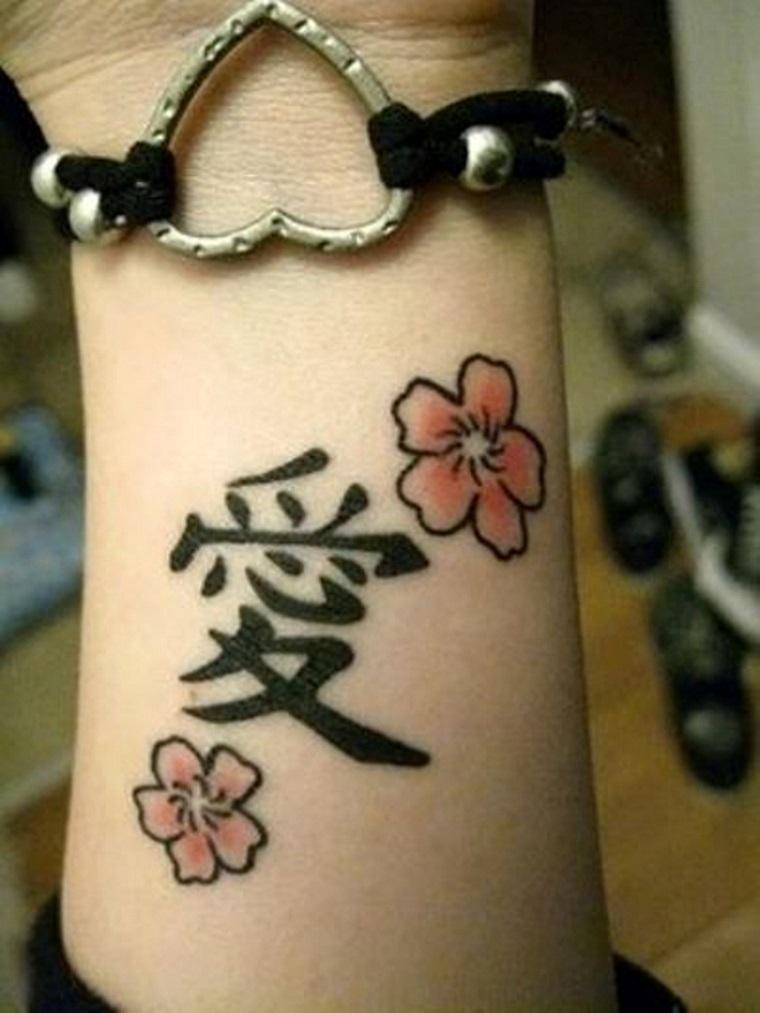 tatuaggi-sul-polso-fiori-lettere-cinesi