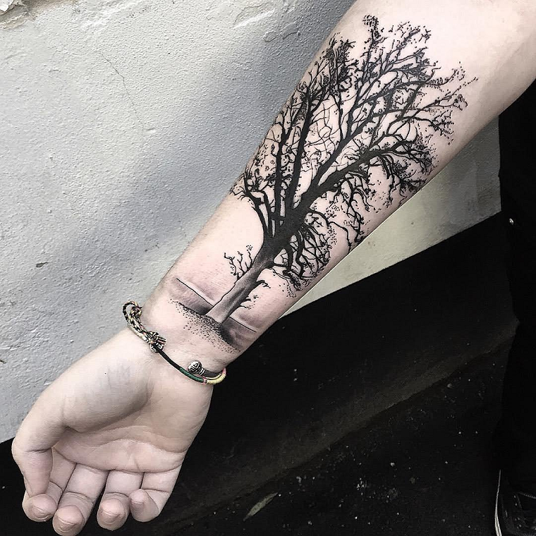 tatuaggio-avambraccio-albero-grande