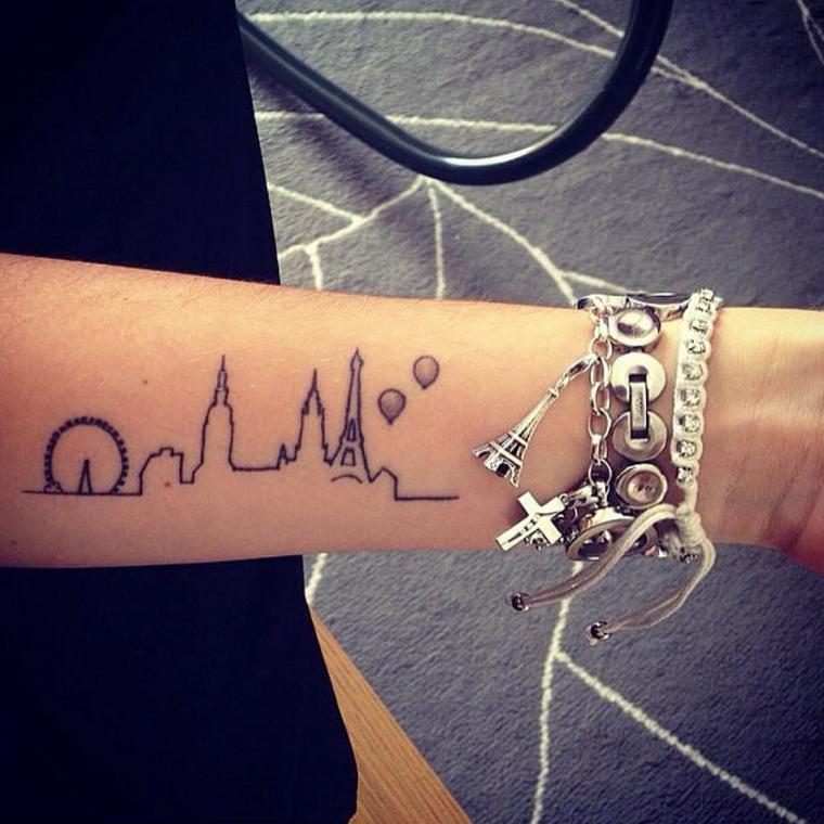 tatuaggio-avambraccio-profilo-citta
