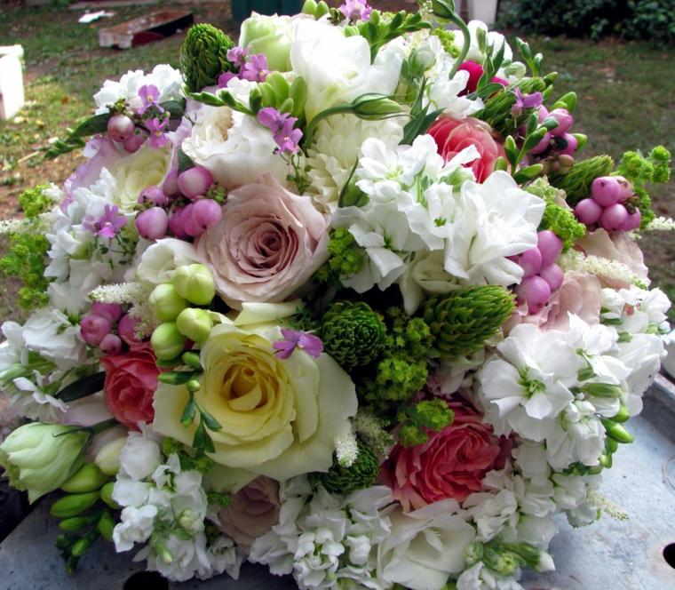 Accessori Matrimonio Bouquet Tondo Grande Tanti Colori Fiori
