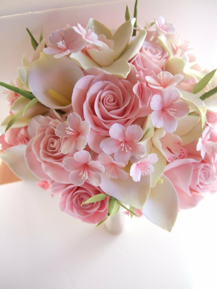 Bouquet Sposa Rose Rosa.1001 Idee Di Bouquet Sposa Per Scegliere Un Elemento