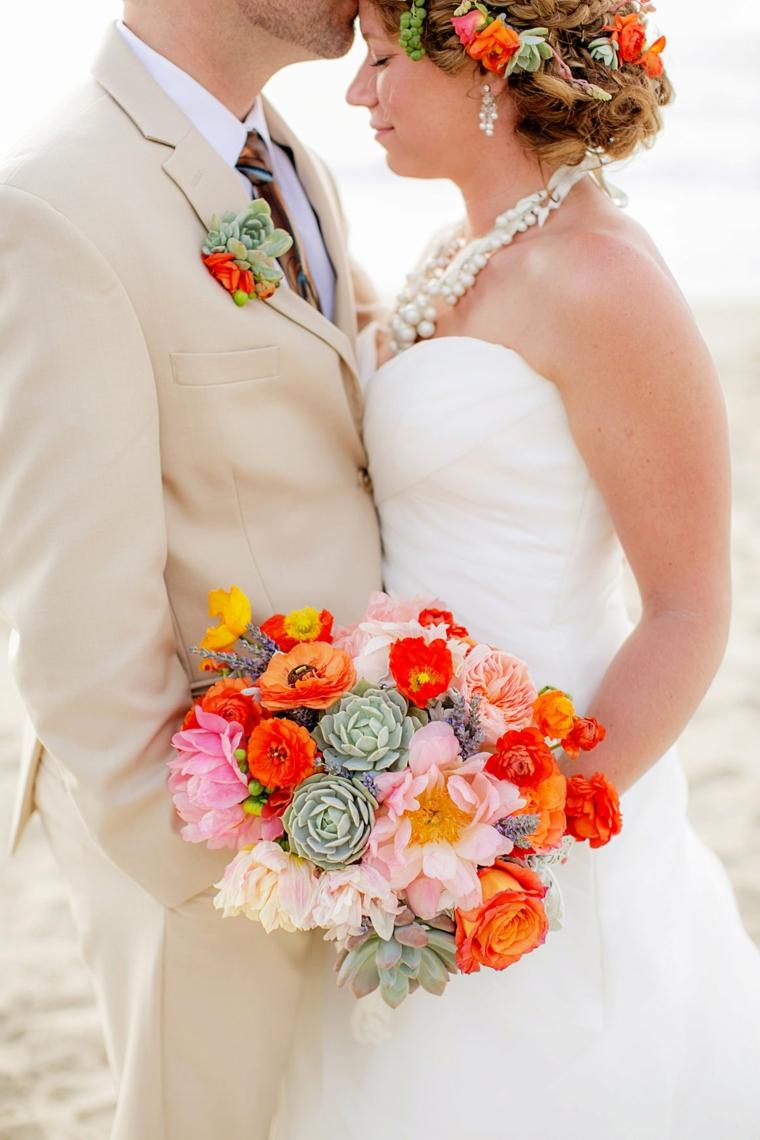 bouquet-sposa-settembre-mazzi-colorato-rose-arancioni-margherite-rosa