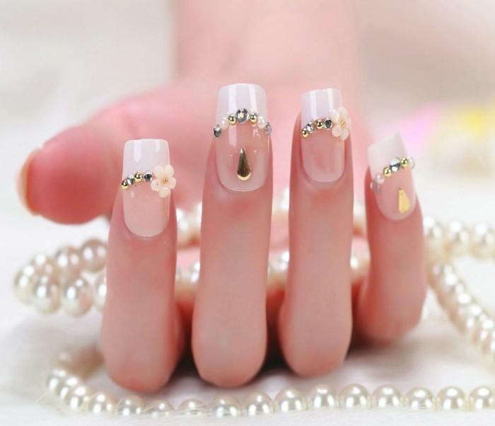 brillantini-per-unghie-base-french-manicure-decorazioni-forma-fiore-gocce-centro-smalto-trasparente