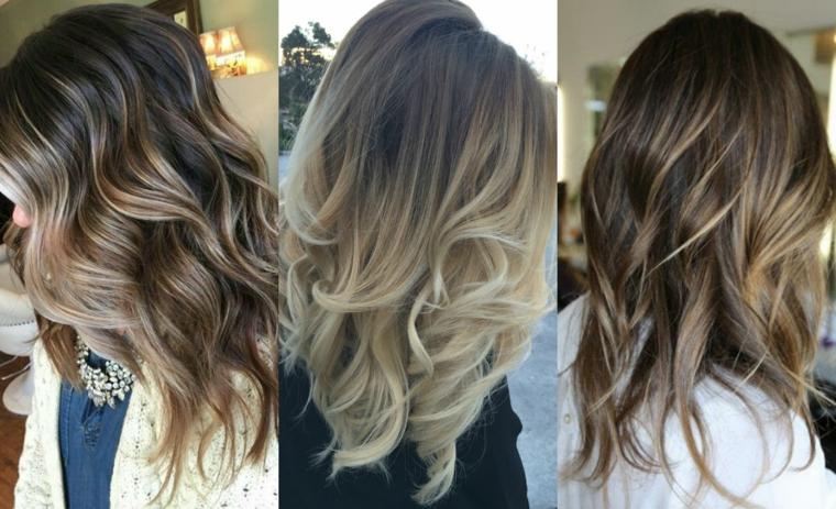 capelli-mossi-tre-proposte-colorazioni-differenti-riflessi-biondi-castani-taglio lungo