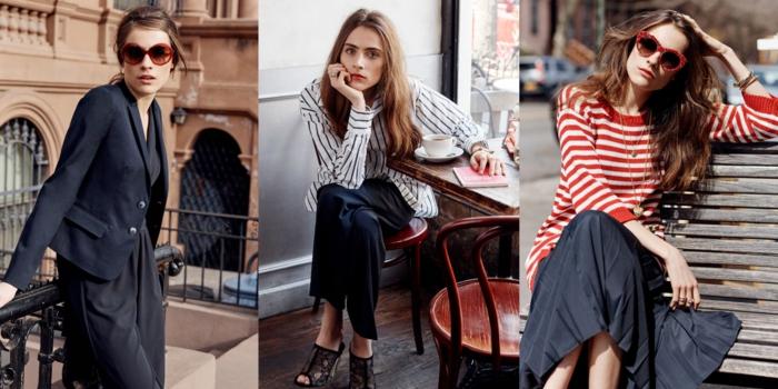 dress-code-smart-casual-donna-accenti-colore-rosso-maglione-smalto-occhiali-da-sole-city-look