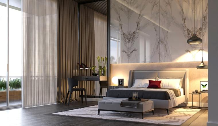 1001 idee come arredare la camera da letto con stile - Cuscini testata letto leroy merlin ...