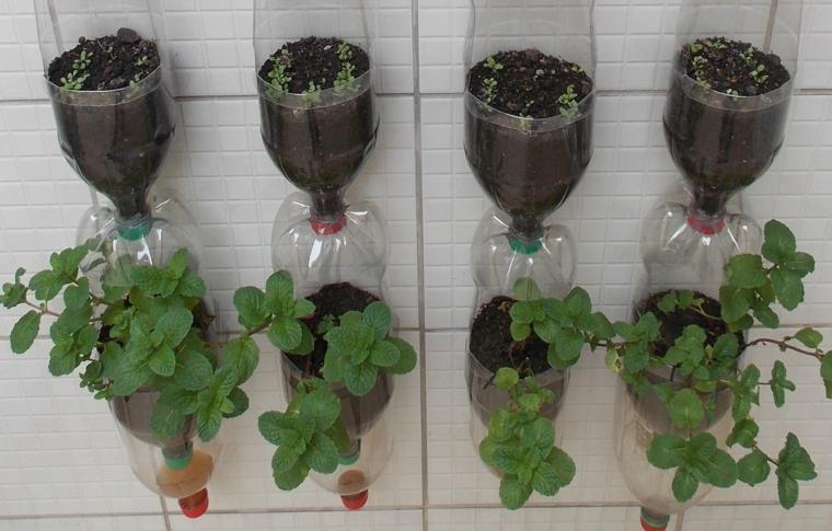 1001 idee per un riciclo creativo utile originale e for Vasi con bottiglie di plastica